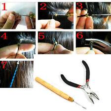 Pliers Opener & Pulling Hook Needle Micro Loop Rings Hair Extension Tools Set
