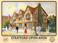 Stratford-Upon-Avon large steel sign 400mm x 300mm (og)