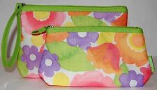 Clinique Aquarel Flowers Makeup Bag Set new
