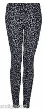 TOPSHOP Navy Floral Paisley Lace Leggings US 4 UK 8 nwt