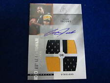 2006 Hot Prospects Omar Jacobs autograph quad jersey rookie card Steelers RC