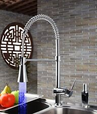 ZJ26 LED Pull Out up&down Kitchen Sink Mixer Tap Chromed  Swivel Faucet