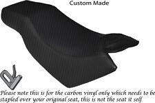 CARBON FIBRE VINYL CUSTOM FITS KYMCO CK PULSAR 125 OLD SHAPE DUAL SEAT COVER