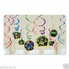 12 VALUE TEENAGE MUTANT NINJA TURTLES PARTY HANGING SWIRL BANNER DECORATION