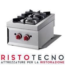 Cucina PROFESSIONALE da banco a GAS 2 fuochi. Dim.cm. 40x60x27H.