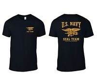 Official US Navy Seal Team T-Shirt USN Seals Trident Special Warfare ... 0a33a7066e