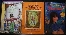 3 Roald Dahl Pb, Champion Of The World,Matilda,Charlie And The Chocolate Factory