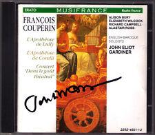 John Eliot GARDINER Signed COUPERIN Le Parnasse L'Apotheose de Lully Corelli CD