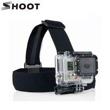 SHOOT Black Elastic Head Strap Mount For Gopro Hero 4 3 2 3+ 4 Session
