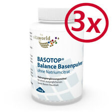3 Pack Basotop Alkalising mineral powder without sodium citrate 2250g Vita World