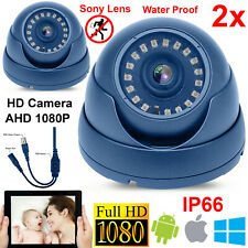 2X CCTV DOME CAMERA 1080P 4IN1 2.4MP FULL HD AHD OUTDOOR SECURITY NIGHT VISION