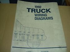 1992 Ford F600 - F800 (CAB) Factory Wiring Diagrams Schematics