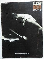 U2 SHEET MUSIC DESIRE 1988 PARTITION GUITARE