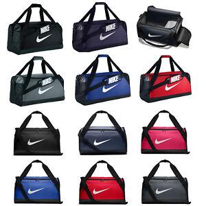 Nike Sports Bag Brasilia Training Holdall Gym Travel Kit Duffel Soccer XS S M