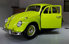 VW 1500 Beetle 1967 Car Lime Green 1:24 Scale Diecast Detailed Model 24202