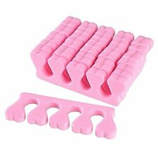 20pcs Nail Art Salon Soft Finger Toe Separator Pedicure Manicure Tool Pink
