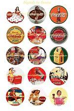"COCA COLA  COKE BOTTLE CAP IMAGES 15 1"" CIRCLES  *****FREE SHIPPING*****"