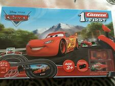 Disney pixar  Cars  slot cars  racing  track set  with two cars