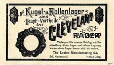 The Lozier Manufacturing Amburgo Cleveland RUOTE storica la pubblicità di 1900