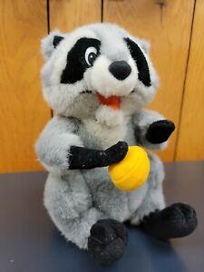"Meeko Raccoon Pocahontas Disney plush stuffed animal 9"" official"