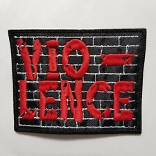 VIO-LENCE  (LOGO)  EMBROIDERED  PATCH