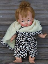 "1963 Ideal Flintstones Pebbles Baby Doll Soft Body 14""  Free USA Shipping"