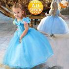 Cinderella Princess Cosplay Costume Kids Girls Childs Party Fancy Dress sdgw