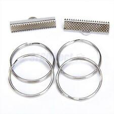 """50 Sets 1"""" Nickel Plated Key Fob Chain Wristlet Hardware with Split Ring"""