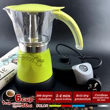 6 color Electric Coffee Maker Italian Classic Auto Cut-off Switch 6cups Espresso