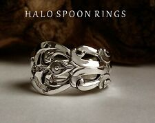 BEAUTIFUL ETHEREAL SWEDISH SILVER SPOON RING CESON 1972 PERFECT CHRISTMAS GIFT