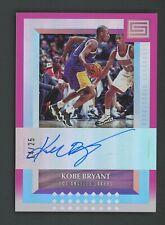 2017-18 Panini Status Pink Kobe Bryant Signed AUTO 14/25 Los Angeles Lakers