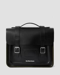 """Dr. Martens Unisex 13"""" Black Kiev Leather Satchel RRP £169"""
