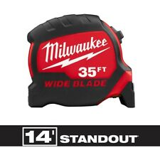 Milwaukee 48-22-0235 35 ft. x 1.3 in. Wide Blade Tape Measure with 17 ft. Reach