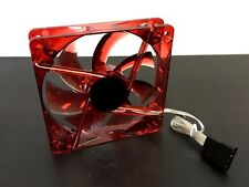 Red Quad 4-LED Light Neon Quite Silent Clear 120mm PC Computer Case Cooling Fan