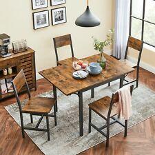 VASAGLE Esszimmertisch Klappbar Esstisch Retro Küchentisch für kleine KDT077B01