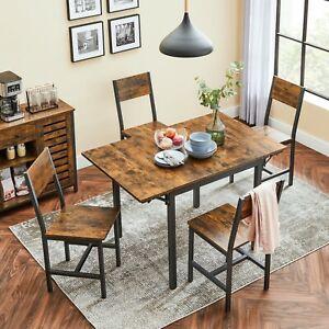 Esstisch Küchentisch Esszimmertisch klappbar Retro VASAGLE KDT077B01