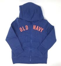 NWT Old Navy Toddler Girl's Blue Fleece Zip Hoodie Sweatshirt - 3T
