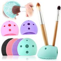Brushegg Holes Makeup Brush Cleaner Silicone Brush Cleaning Tool Pad