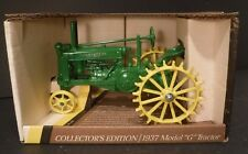 """New John Deere 1937 Model """"G"""" Tractor 1/16 Scale ERLT Toy Tractor #548 50th Anni"""