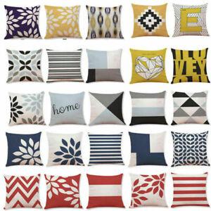 Latest Throw Cotton Waist Geometric Pillow Cover Sofa Cushion Decor Home Case
