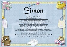 Peronsalised Gift - First Name Meaning Certificate Newborn Baby Boy - Welcome