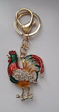 Rooster KEY-CHAIN Alloy Crystal SOUVENIR SYMBOL YEAR 2017
