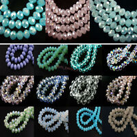 Wholesale 30Pcs 12mm Faceted Loose Glass Crystal Beads Spacer Rondelle bead New