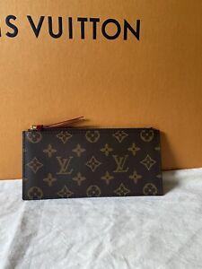 Authentic LOUIS VUITTON Felicie Pochette Insert Zip Coin Wallet Monogram