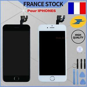 POUR IPHONE 6 LCD RETINA COMPLET ECRAN + VITRE TACTILE NOIR BLANC SUR CHASSIS