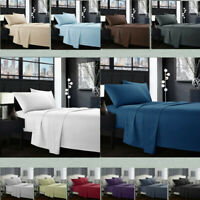 Egyptian Comfort 1800 Count 4 Piece Deep Pocket Bed Sheet Set King Queen Size R3