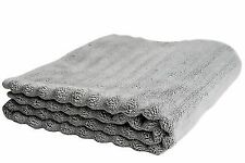 Nutrl Home Classic Bath Towel - Antimicrobial 100 Supima Cotton Grey, 55 x 28