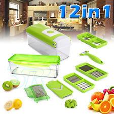 12Pc Slicer Plus Vegetable Fruit Peeler Dicer Cutter Chopper Nicer Grater Cube