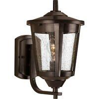 Progress Lighting East Haven 1-Light Small Antique Bronze Outdoor Wall Lantern