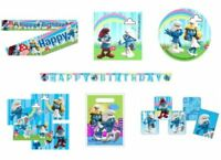 THE SMURFS Birthday Party Range (Tableware Balloons Decorations Supplies) BLUE